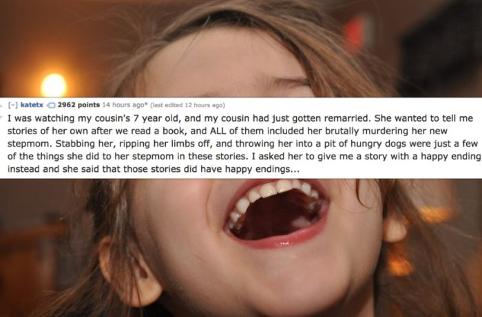 Babysitters Share The Most Disturbing Things Kids Have Said To Them (15 pics)