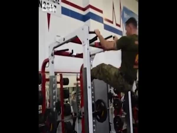 Marine Has An Insane Amount Of Upper Body Strength
