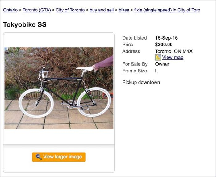 Moron Gets Busted While Trying To Sell A Stolen Bike (8 pics)