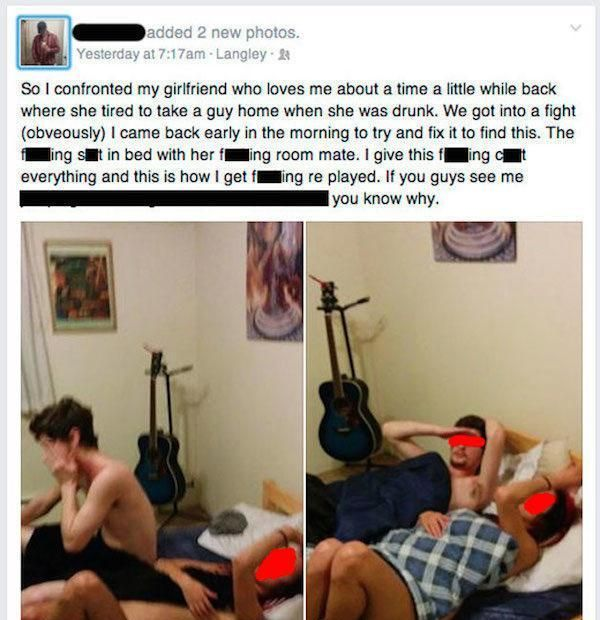 Angry People Expose Their Cheating Lovers On Facebook (14 pics)