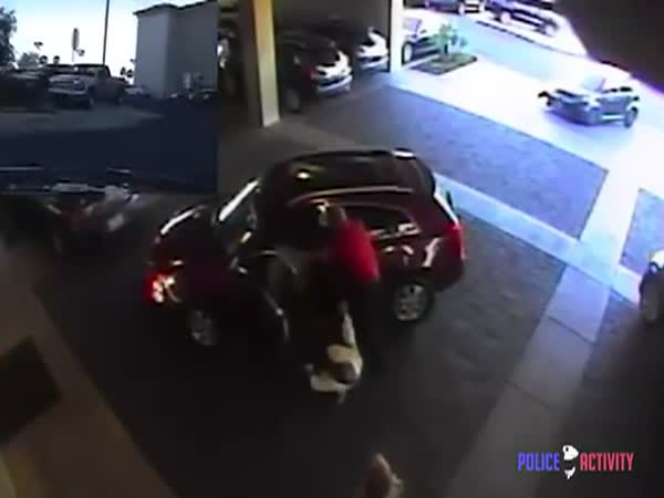 Carjacker Throws Old Woman Out Of Car And Cop Owns Him