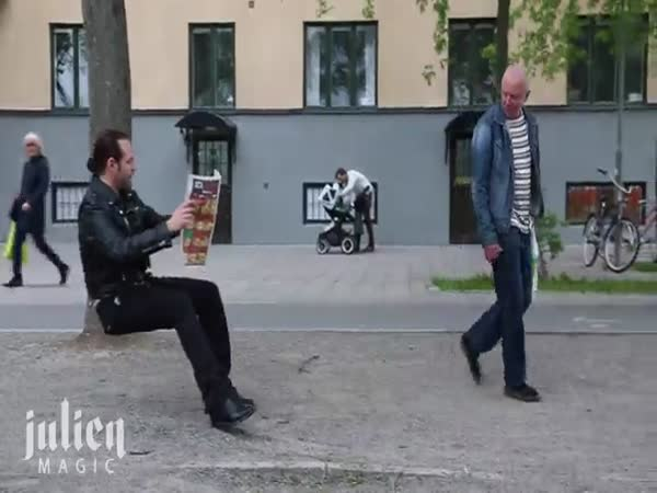 Magician Trolls People With Invisible Chair Prank