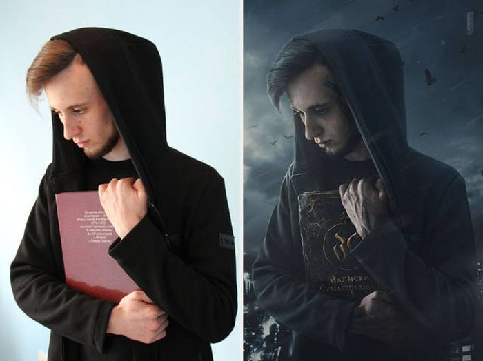 This Russian Photoshop Artist Clearly Attended Hogwarts (21 pics)