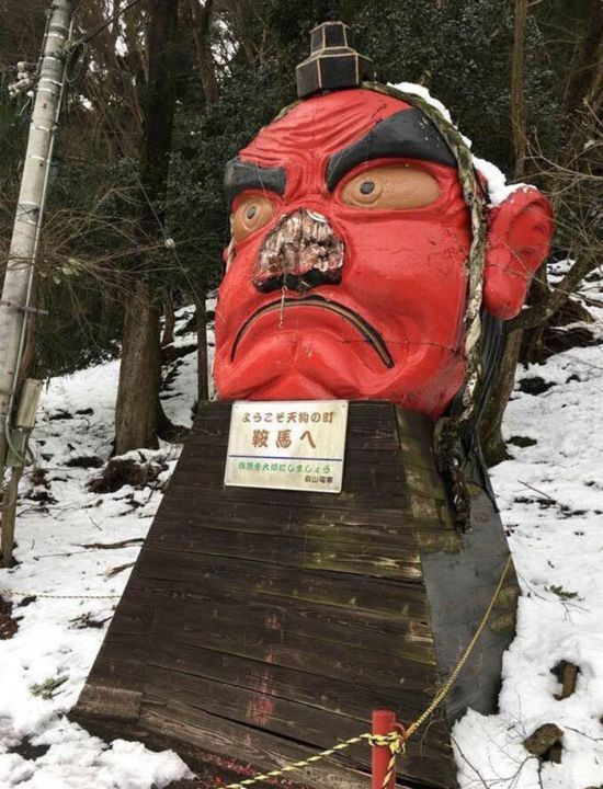 Japanese Tengu Gets Fixed With A Bandaid (3 pics)