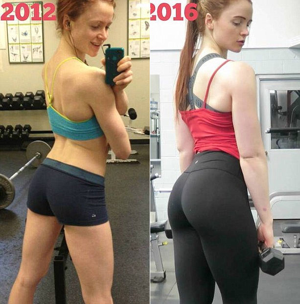 Girl Shows Off Her Gorgeous Body Before And After Going To The Gym (4 pics)