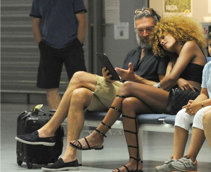 Vincent Cassel Spotted In Ibiza With Model Tina Kunakey (11 pics)