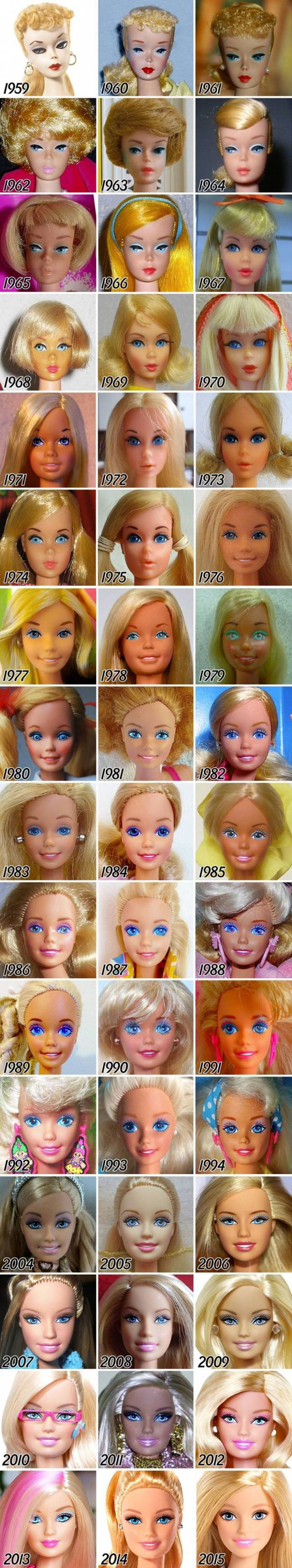 Looking Back On The Evolution Of Barbie (2 pics)