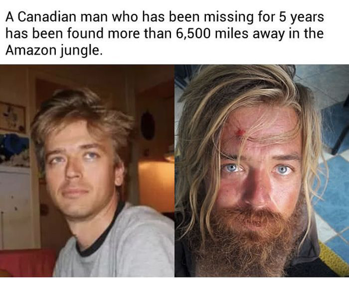 Canadian Man Who Disappeared Years Ago Has Been Found In Brazil (6 pics)