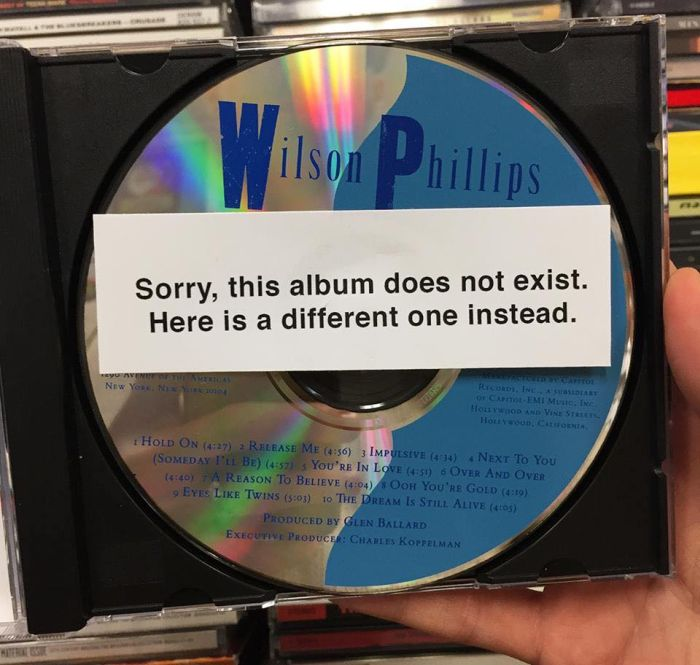 Guy Places Fake Music Albums In A Local Music Store (11 pics)