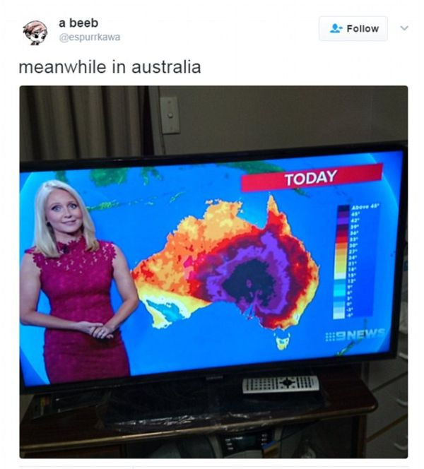 Australians Are Laughing Off The Pain As They Try To Survive A Heatwave (18 pics)