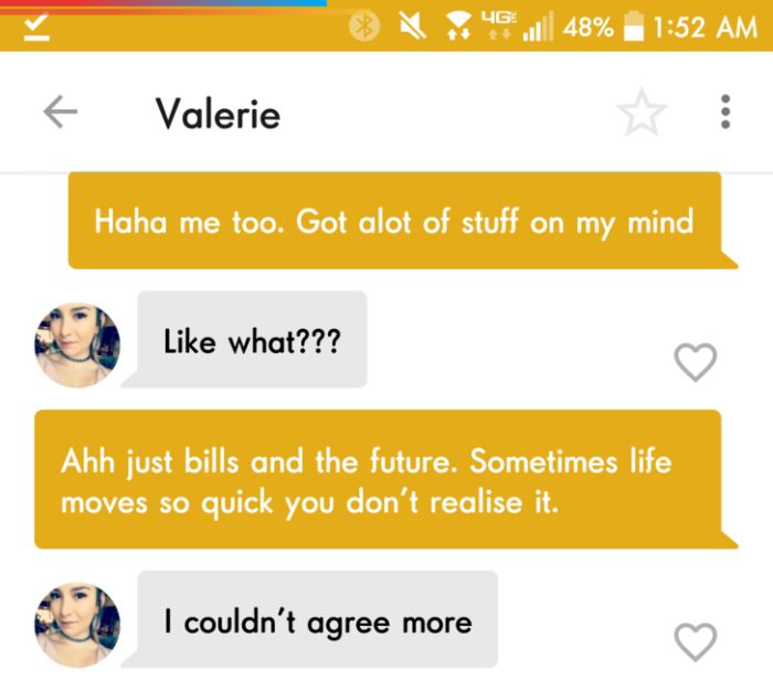 Slick Guy Uses Dating App To His Advantage (5 pics)