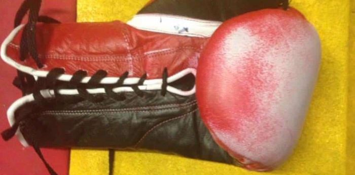 Boxer Tries To Cheat Using Enhanced Grant Gloves (2 pics)