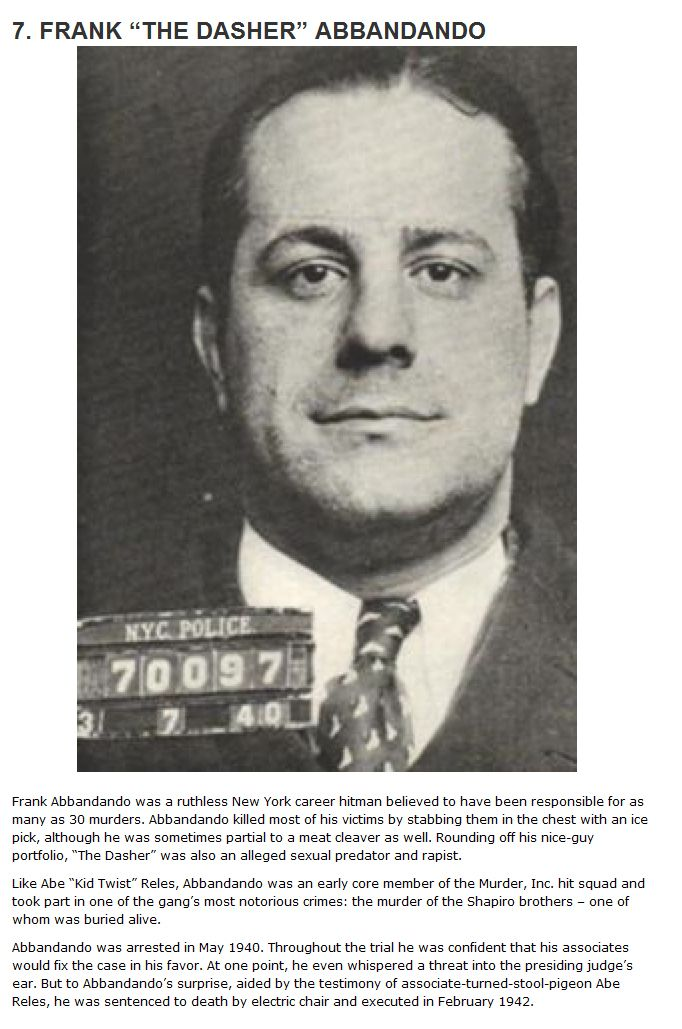 The 10 Deadliest Hitmen In The History Of The Mafia (10 pics)