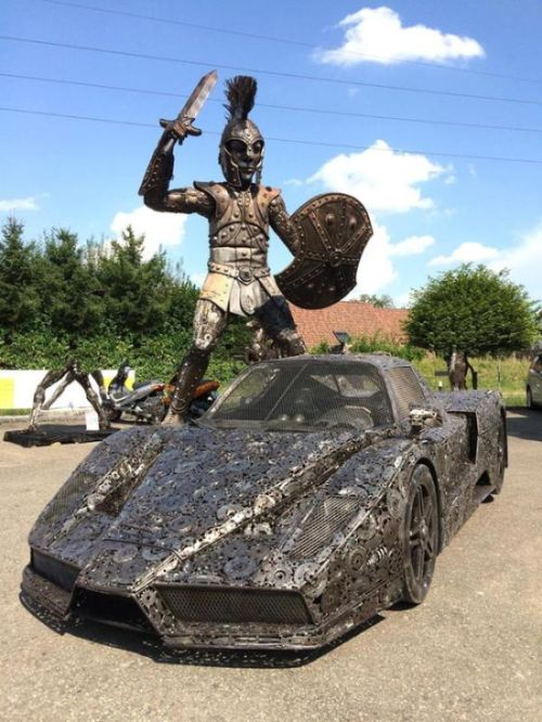 It's Hard To Believe This Epic Car Was Made From Scrap Metal (8 pics)