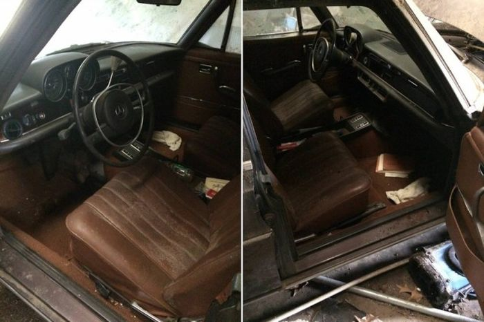 Untouched Mercedes-Benz Discovered In An Old Barn (8 pics)