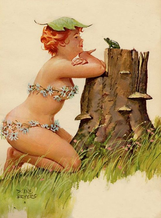 Sexy Illustrations Of The Forgotten Plus-Size Pin-Up Girl Named Hilda (20 pics)