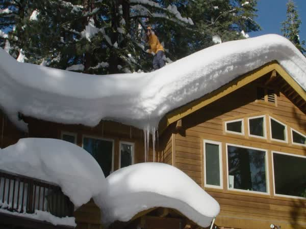 Roof Snow Boarding