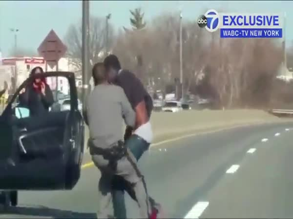 Bloody State Trooper Struggles To Detain Suspect