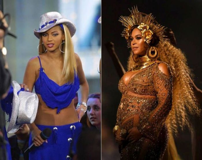 Famous Female Pop Stars Then Vs. Now (22 pics)
