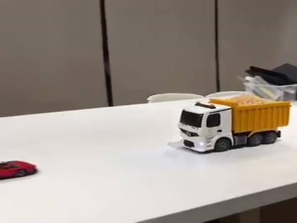 Remote Controlled Truck Cake Complete With A Horn
