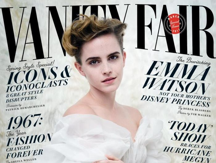 Emma Watson Goes Topless For Racy Vanity Fair Photo Shoot (2 pics)