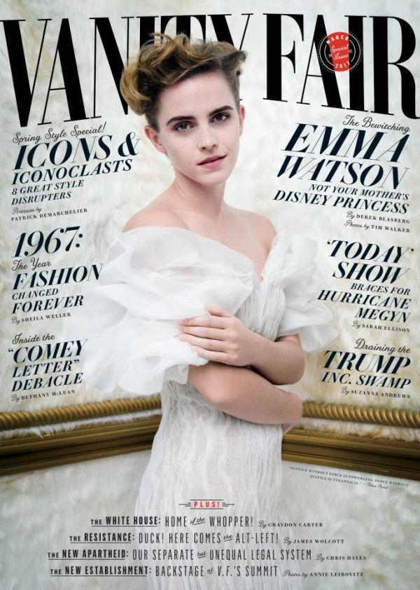 Emma Watson Goes Topless For Racy Vanity Fair Photo Shoot (2 pics)