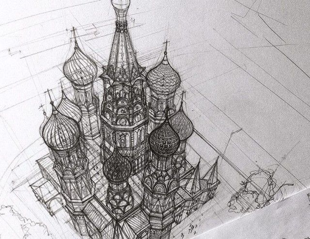 Impressive Architectural Sketches Show A University Student's Talent (18 pics)