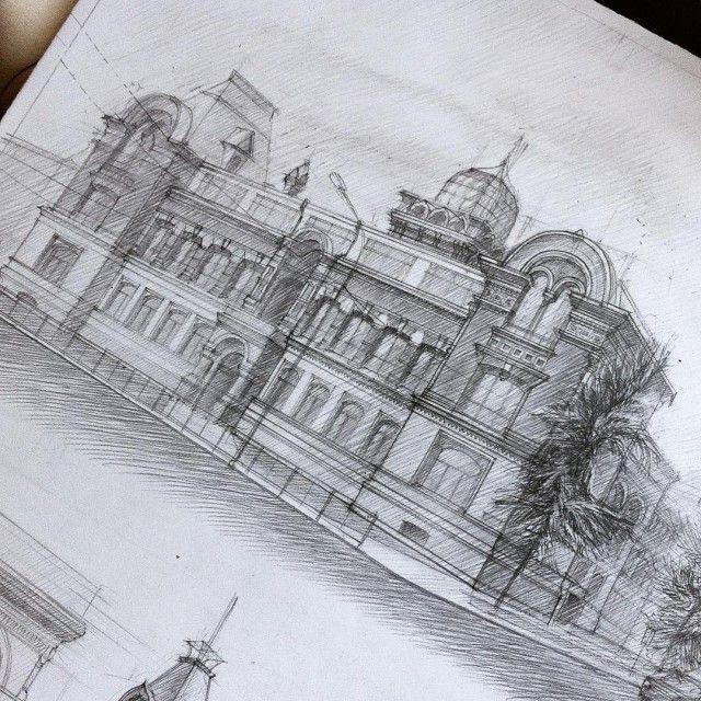 Impressive Architectural Sketches Show A University Student's Talent (18 pics)