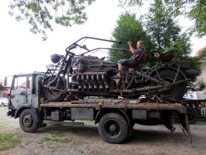 The World's Largest Motorcycle Has An Engine From A Soviet Tank (10 pics)