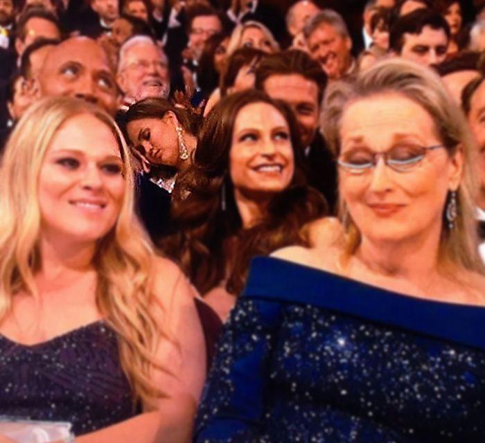 Model Chrissy Teigen Falls Asleep At The Academy Awards (2 pics)