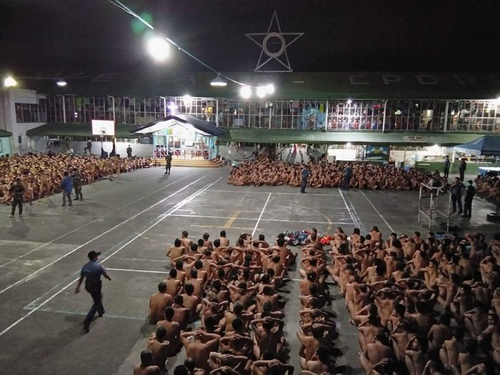 Photos Of Prisoners In The Philippines Sitting Naked Spark Outrage (3 pics)