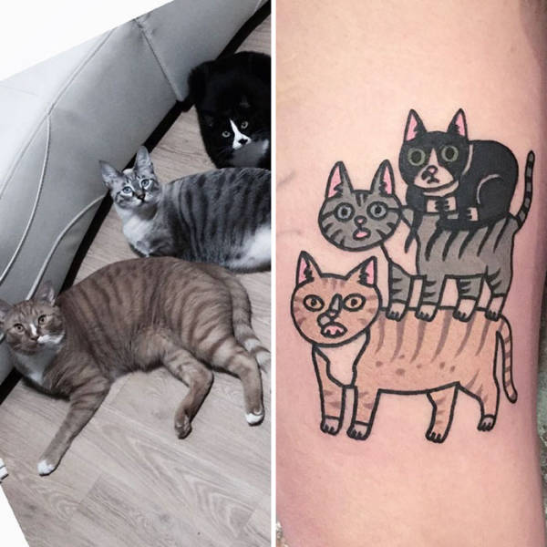 People Share Adorable Tattoos Of Their Own Pets (35 pics)