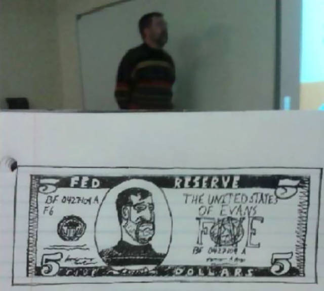 Artist Draws Interesting Pictures Of Their Professor (10 pics)