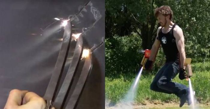 This Man Brings Real Superhero Weapons To Life (10 gifs)