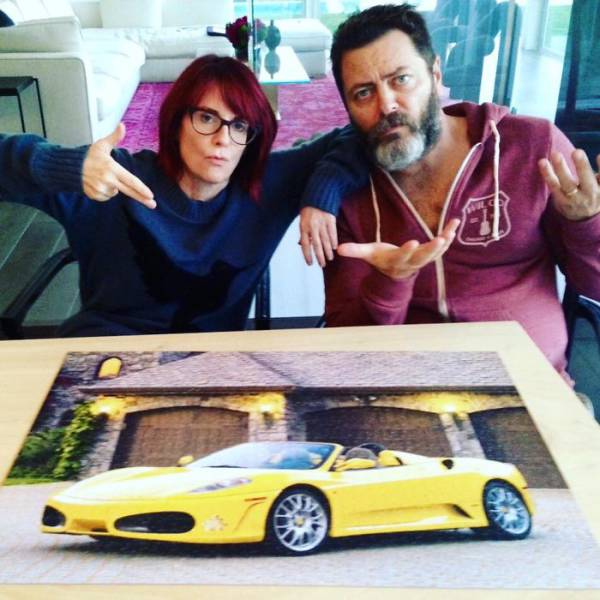 Nick Offerman And Megan Mullaly Prove They're The Perfect Couple (21 pics)