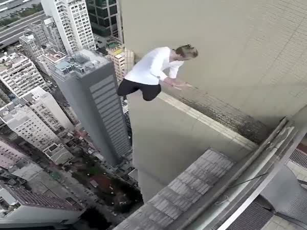 Jumping On The Edge Of A Skyscraper