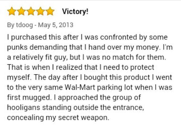 Guy Leaves Amazing Review For Stun Gun On Amazon (6 pics)