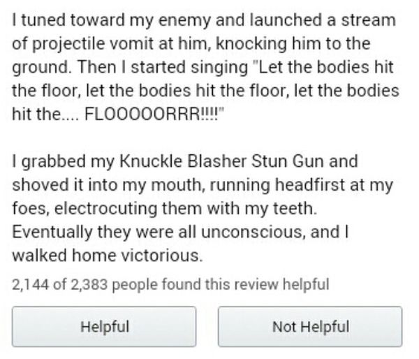 Guy Leaves Amazing Review For Stun Gun On Amazon (6 pics)
