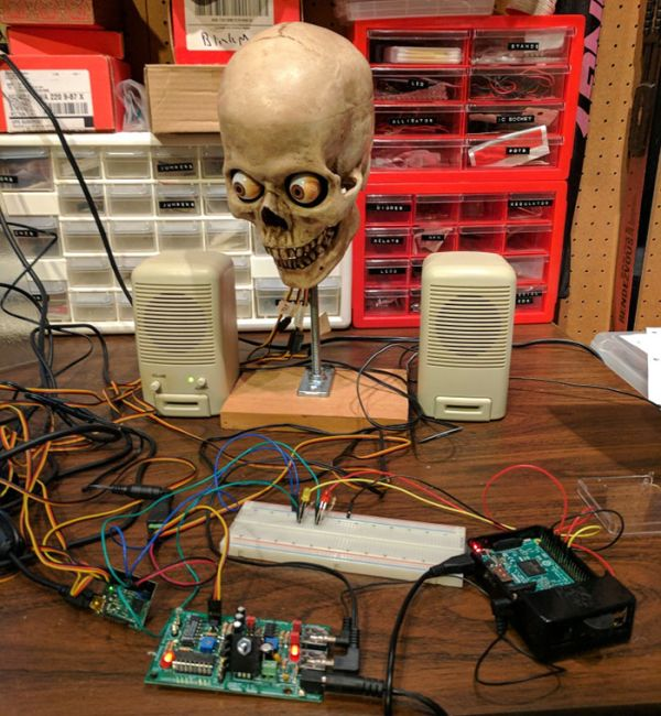Guy Makes His Alexa Speak From A Horrifying Skull (4 pics + video)