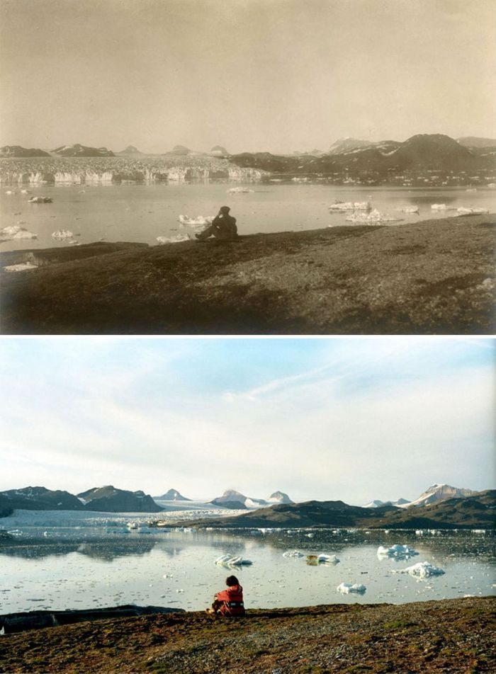 Shocking Photos Show 100 Years Of Climate Change In The Arctic (7 pics)