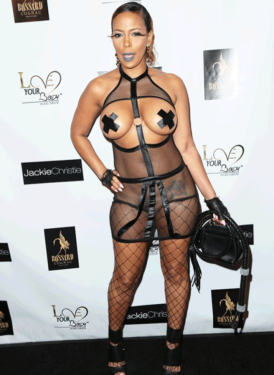 Basketball Wives Star Sundy Carter Wears Risque Dominatrix Dress (4 pics)