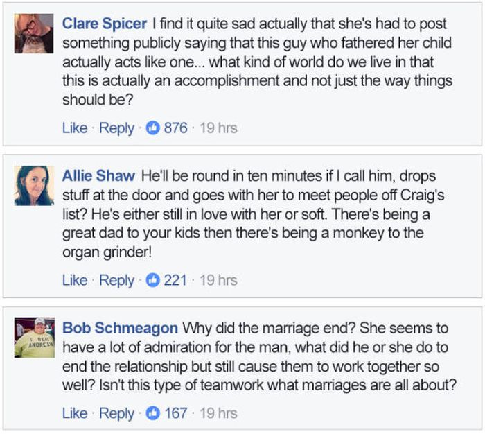 Woman Raves About Her Ex-Husband On Social Media (10 pics)