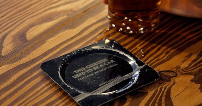 This Bar Turns Cars Into Coasters (4 pics)