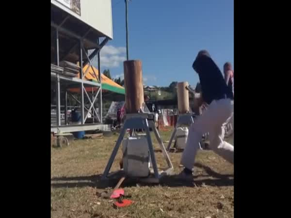One Armed Badass Goes Beat Mode On This Block Of Wood