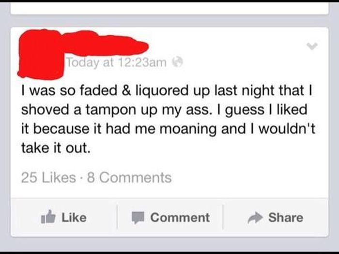 Drunk Facebook Status Updates You're Glad You Didn't Post (23 pics)