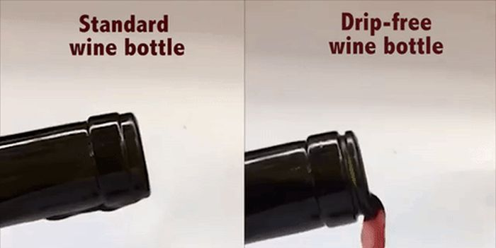 This Drip Free Wine Bottle Is A Masterpiece (2 pics)