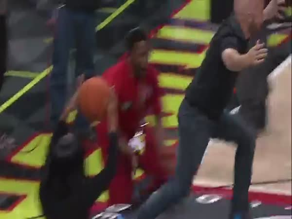 Hawks Fan Pulls Off Ridiculous Trampoline Dunk Follows With Epic Celebration