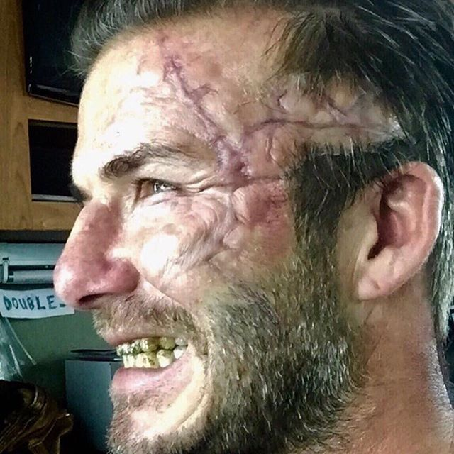 David Beckham Looks Gruesome On The Set Of King Arthur (2 pics)