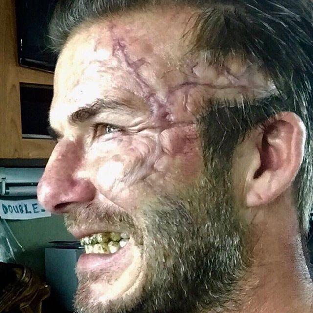 David Beckham Looks Gruesome On The Set Of King Arthur (2 pics)
