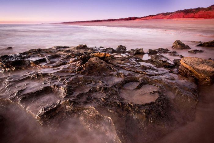 World's Largest Dinosaur Footprint Uncovered In Australia (4 pics)